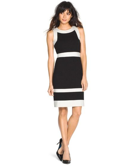 White House Black Market Contrast Shift Dress Whbm