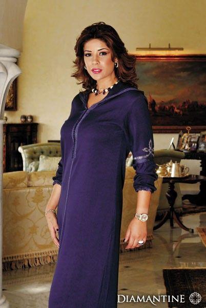 Jellaba Violet Djellaba Marocaine, Caftan Marocain, Djellaba Moderne, Habit  Traditionnel, Robe,