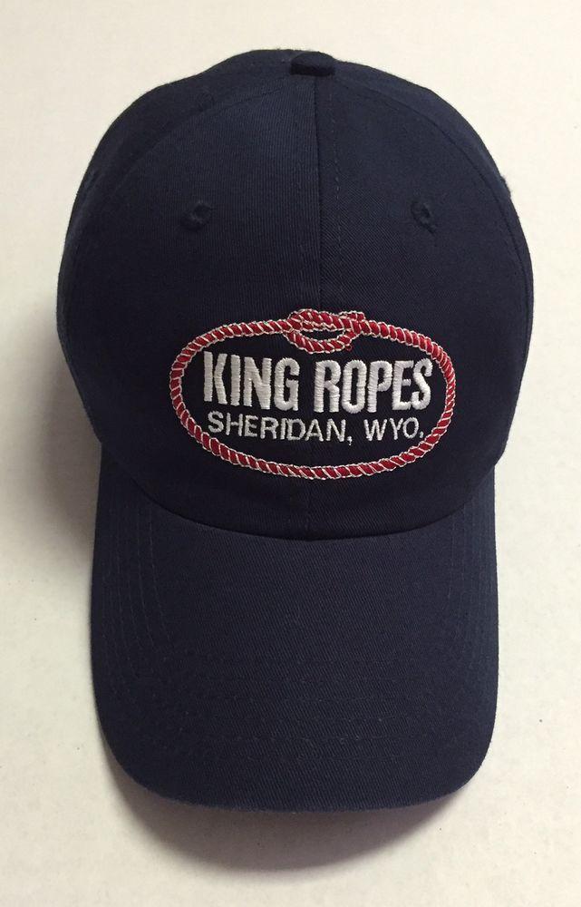 7195109a338bb King Ropes Hat Sheridan Baseball Cap Wyoming Roping Rodeo Western Navy Blue   Imperial  BaseballCap