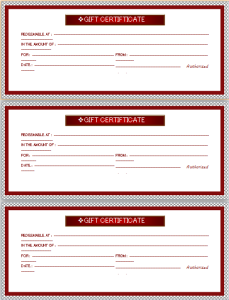 Casual And Occasional Gift Certificates At HttpWordDocuments