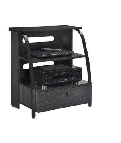 TV Gaming Stand Wood Metal Shelves Drawer Living