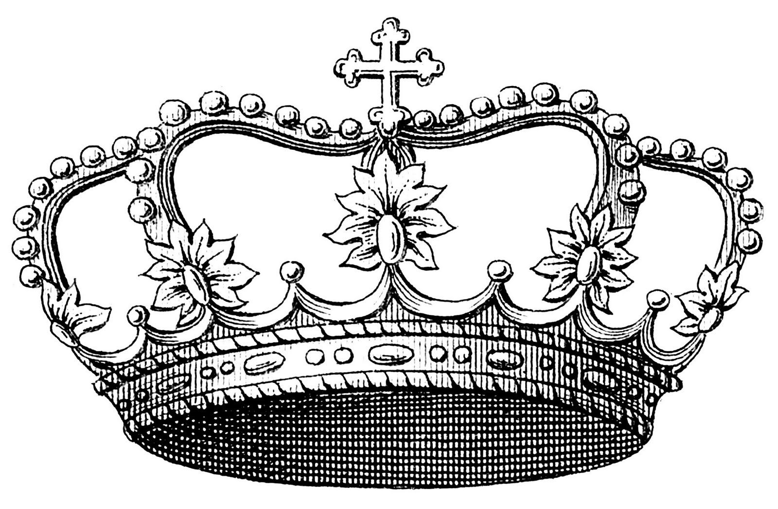 Vintage Clip Art Image - Delicate Princess Crown | Graphics fairy ...