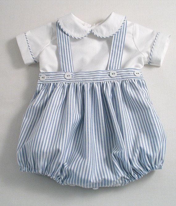 692c1c3cf Blue Striped Oxford Romper-suit set. by patriciasmithdesigns ...