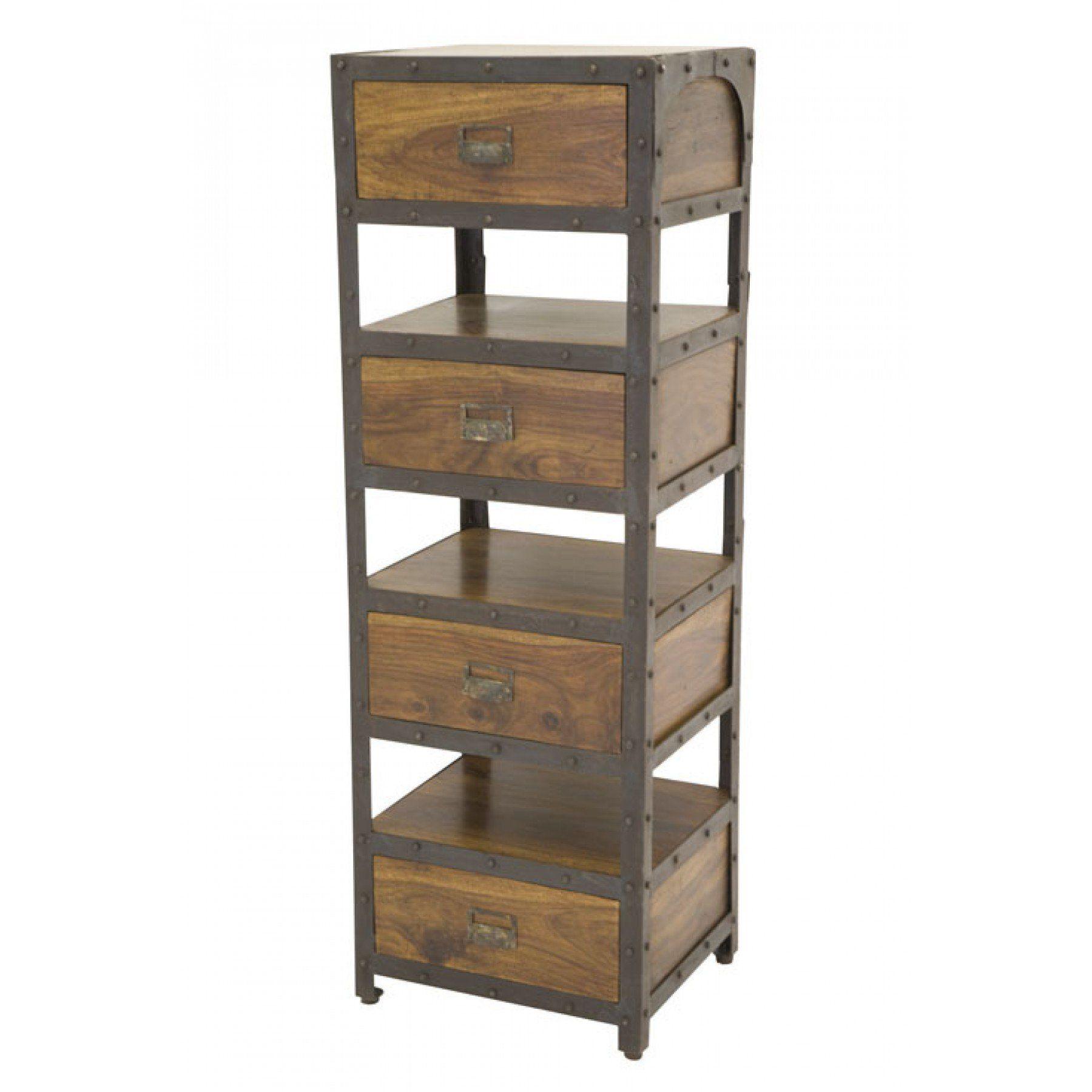 Colonne 4 tiroirs factory Pachtoune par Nomadde - meubles design | Meuble moderne, Petit meuble ...
