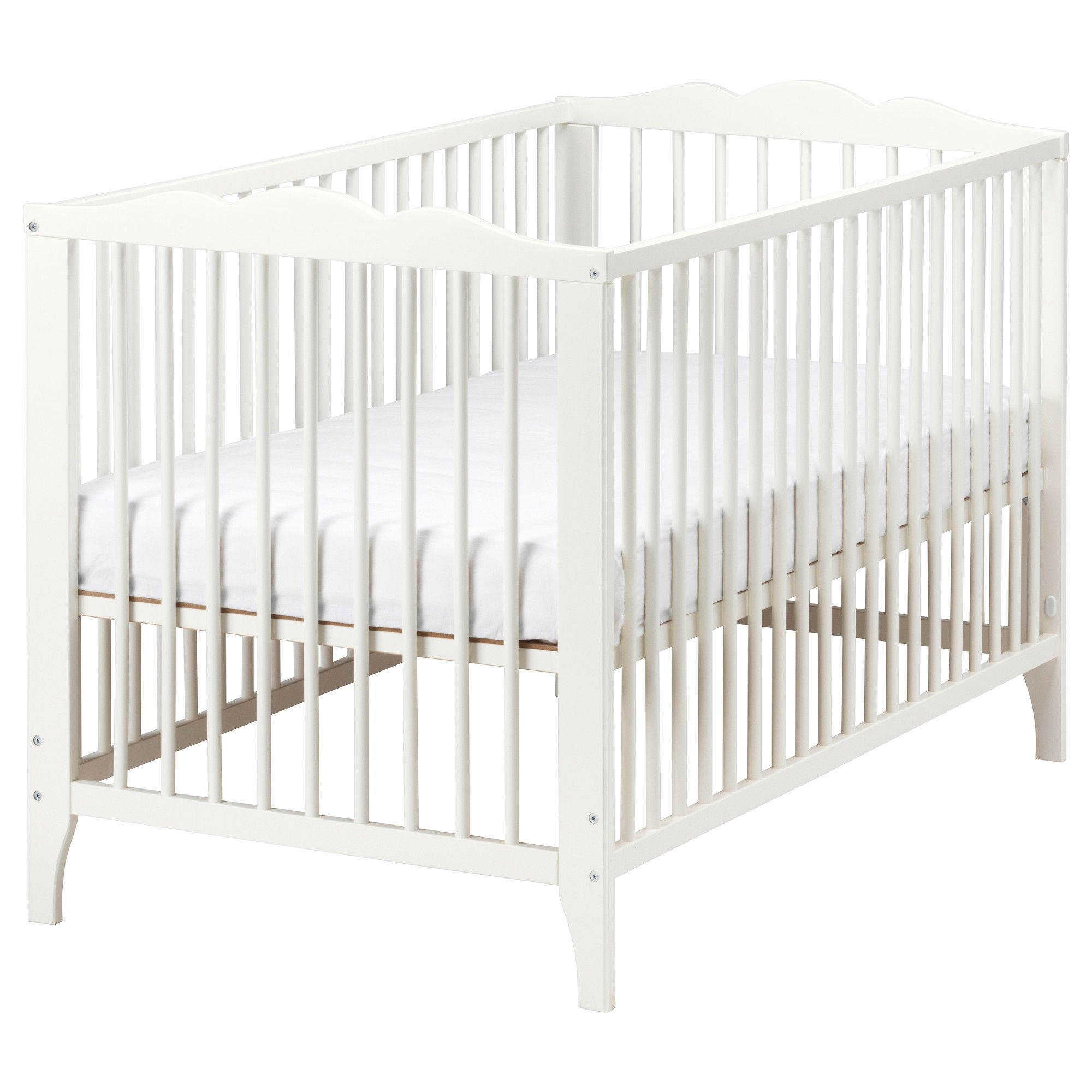 Hensvik Crib Ikea 99 Mattress And Cover Sold Separately Converts To Toddler Bed As Well