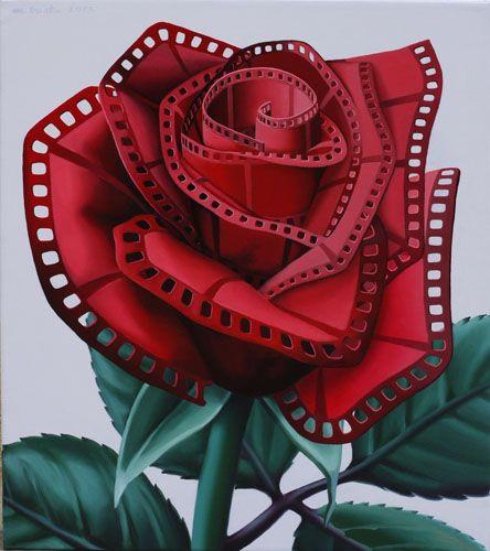 La Vie en Rose by MIHAI CRISTE LA surreal paintings
