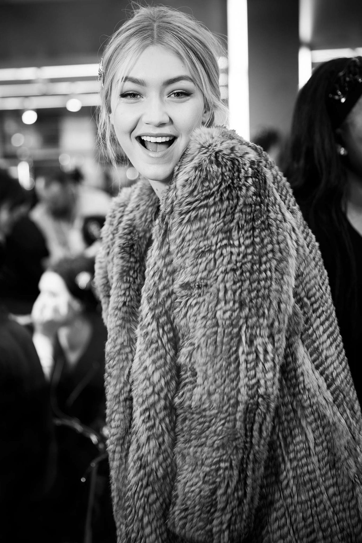 Gigi Hadid - Backstage at Dolce & Gabbana, Fall 2015 RTW