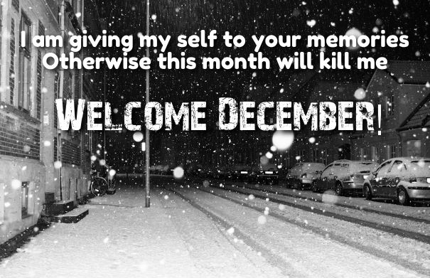 Hello December Sayings wishes