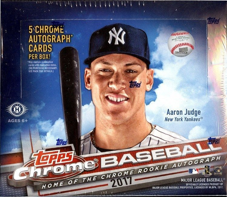 d61afe9ff82 2017 TOPPS CHROME BASEBALL JUMBO HTA 8 BOX CASE BLOWOUT CARDS  BaseballCards