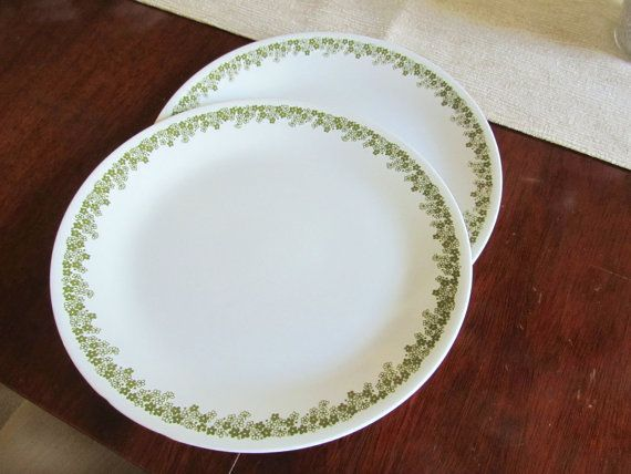 Two Vintage Corelle Spring Blossom Dinner Plates by NonisVintageDelights, Great buy at $15.50