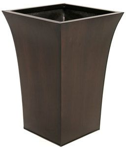 Square Metal Flower Pots Zinc Bronze Flared Planter Plant Pot Tall Large