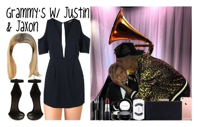 """Grammy's with Justin & Jaxon"" by luni-salazar ❤ liked on Polyvore featuring Justin Bieber, Forever 21, Topshop, Isabel Marant, NARS Cosmetics, Estée Lauder, MAC Cosmetics and Monsoon"