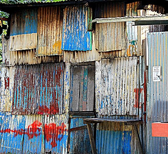 Corrugated Iron Is Like A Natural Art Form As It Ages
