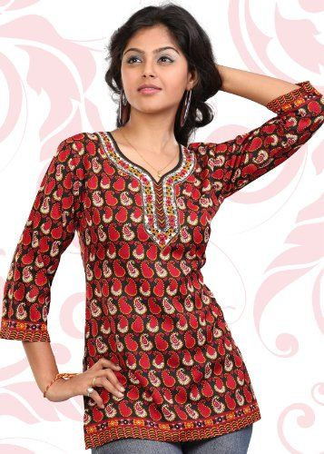 #Indian Tunic Top Womens / Kurti Printed Blouse � Clothing Impulse  Blouses and Tunics   www.2dayslook.com  #Blouses  #Tunics  #nice #2dayslook