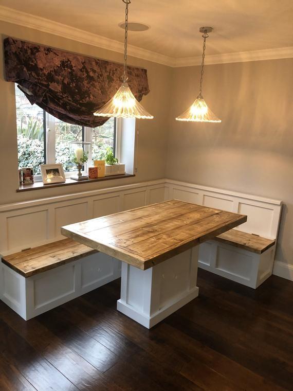 Modern Banquette farmhouse kitchen dining area