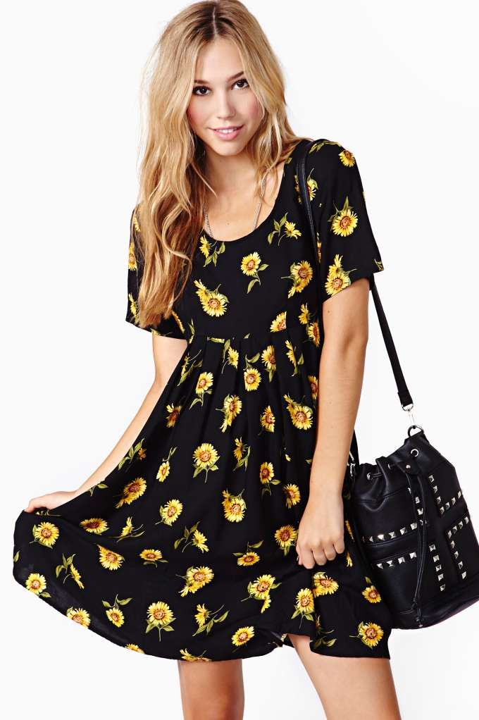 Sunflower Baby Doll Dress I Swear I Had This Exact Dress In
