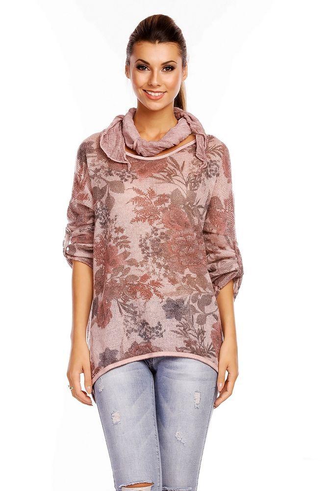 Pullover Damen Blumen