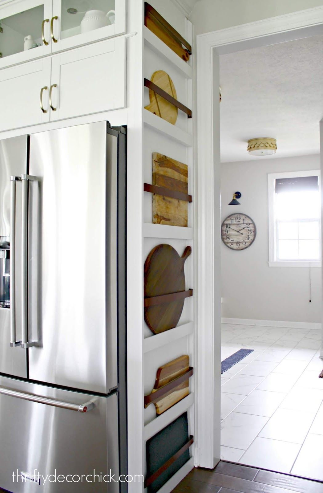 Adding form AND function to the side of a refrigerator