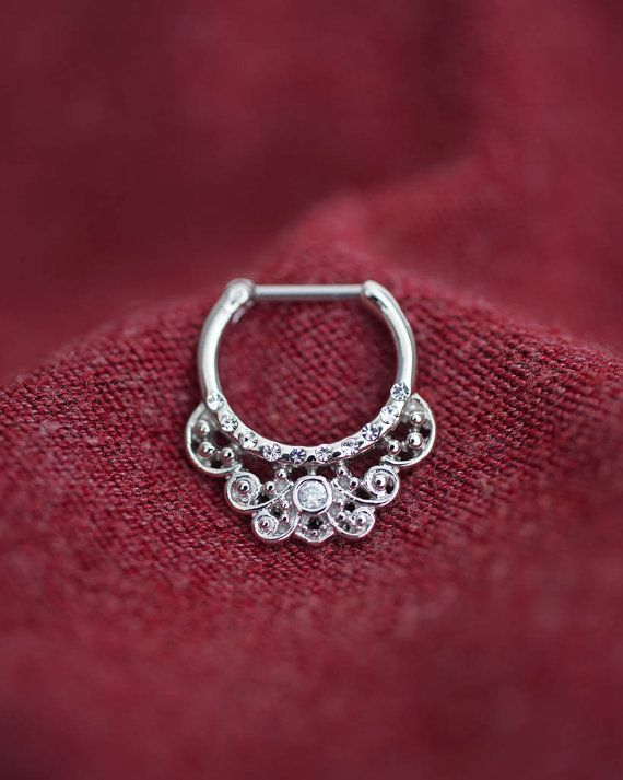 septum ring septum clicker septum jewelry septum by. Black Bedroom Furniture Sets. Home Design Ideas