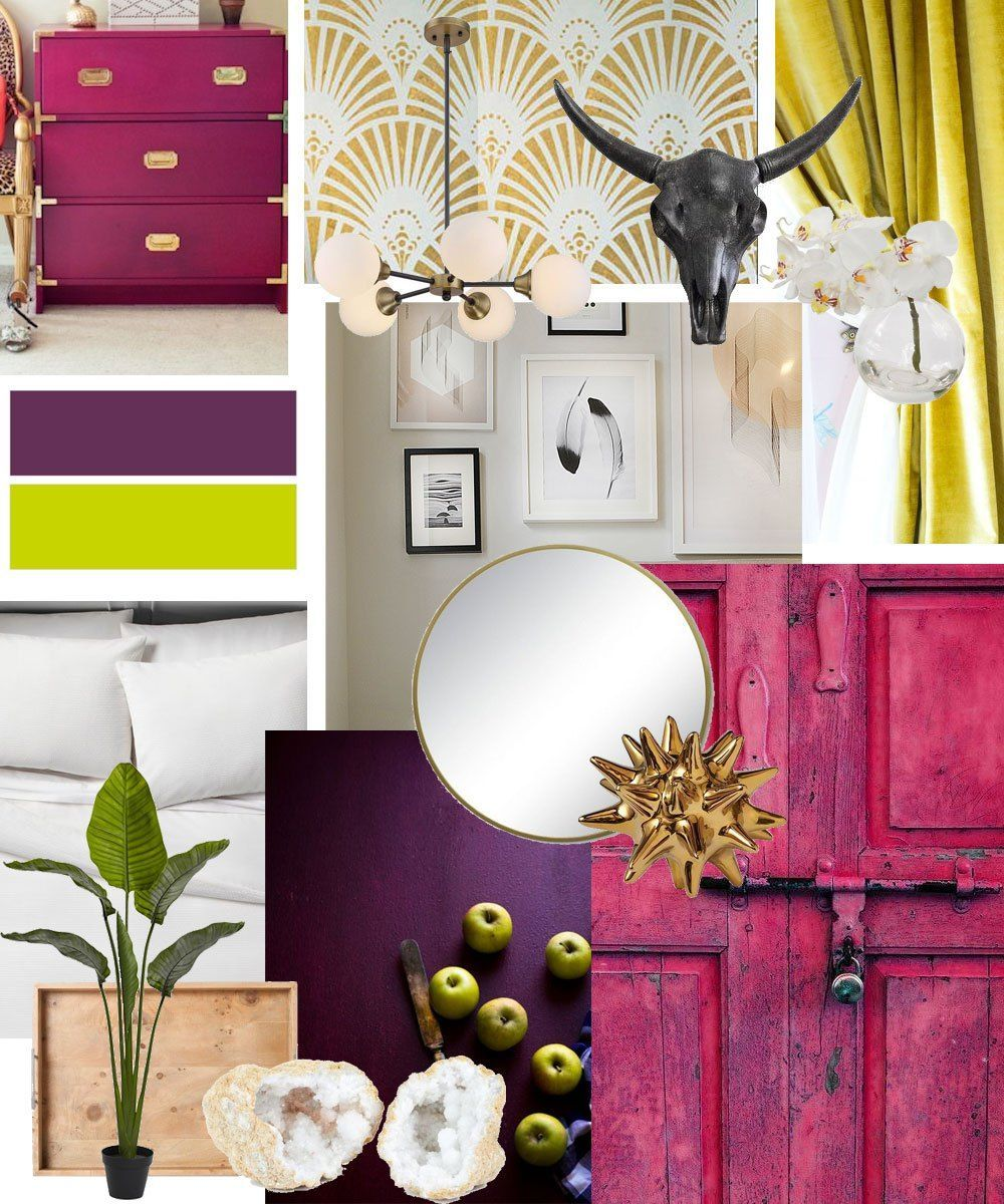 Bright And Bold Guest Bedroom: Bold, Colorful Guest Bedroom