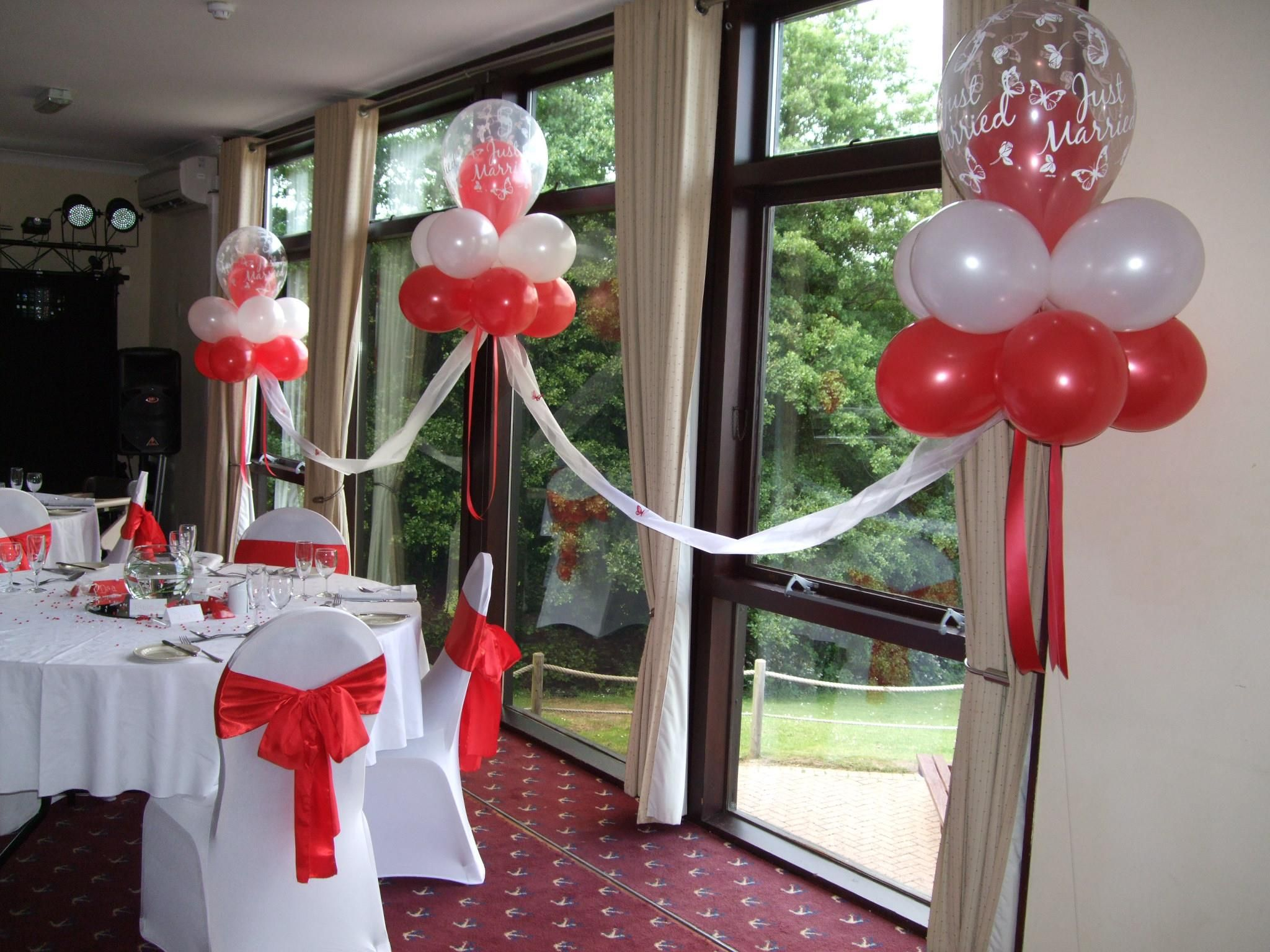 Red white cloud nines balloon decorations pinterest for Balloon cloud decoration