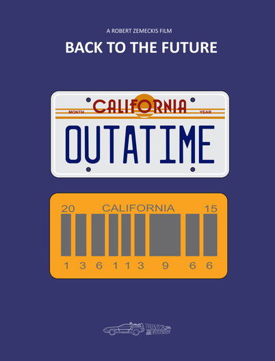 Back To The Future De Volta Para O Futuro Placas