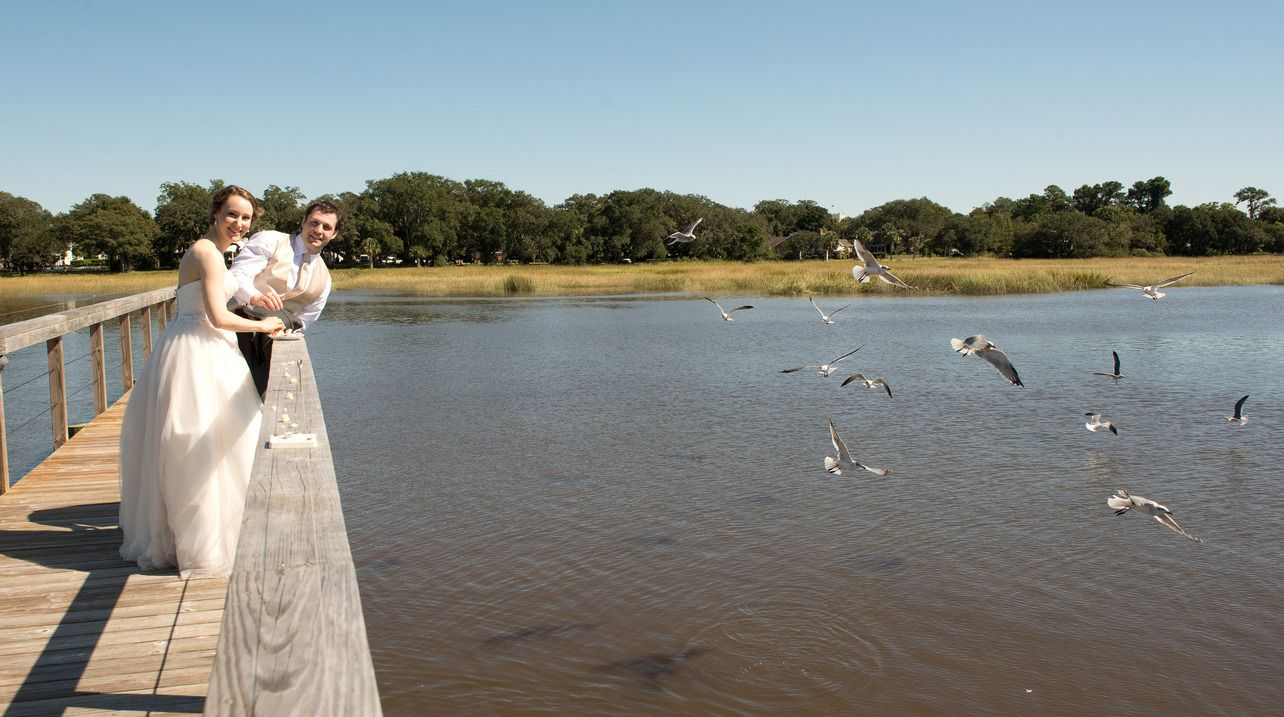 Katie & Ben's River House at Lowndes Grove wedding in