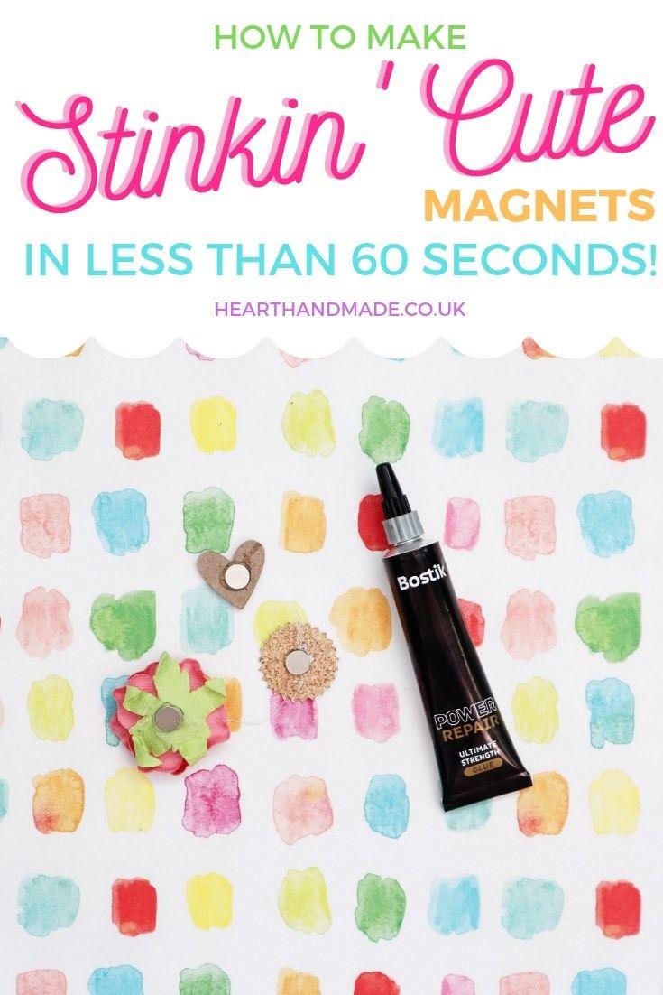 Как сделать крутые магниты на холодильник своими руками менее чем за 5 минут!