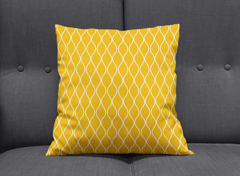 Yellow Cushion Yellow Throw Pillow Modern Cushion Throw Etsy Yellow Throw Pillows Yellow Cushions Throw Pillows