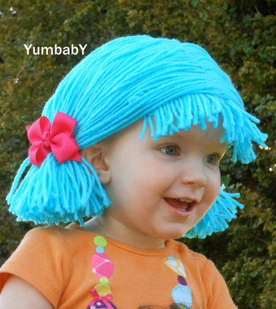 blue pigtail wig baby girl halloween costume by yumbaby on etsy 2495 halloween