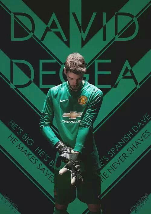 The Red Spanish David De Gea Sepak Bola Gambar Sepak Bola Pemain Sepak Bola