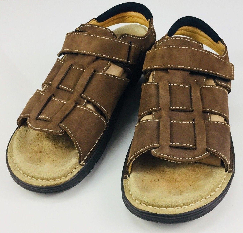 f8bbc594b56bc Bidding starts at $5.00 Clarks Merrimack Sandals Walking Sport Active Air  Leather Mens Size 13 M EUC