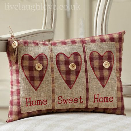 home sweet home cushion for live laugh love