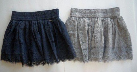 Cute lace skirt from A  Size:Small Color:Blue (as shown in picture)