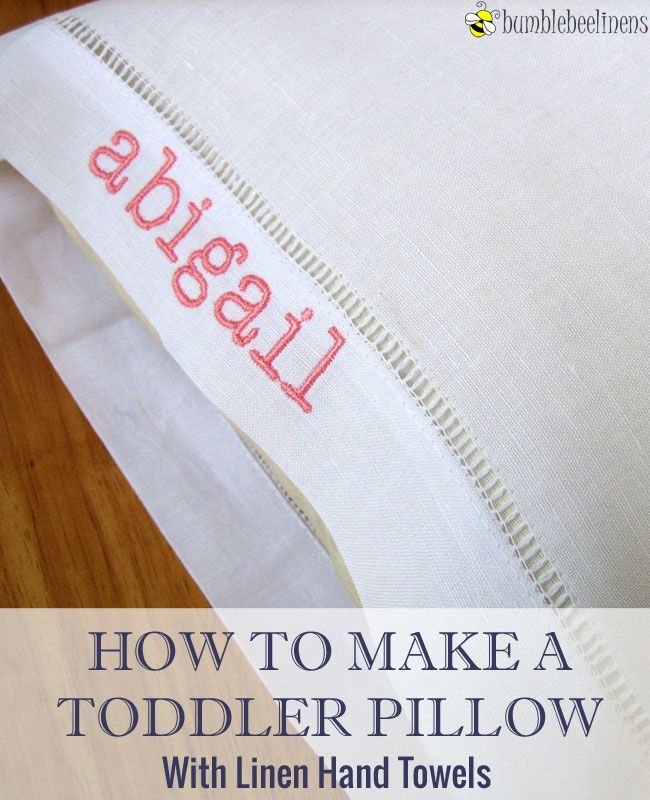 Making a toddler pillow out of hemstitched linen towels diy tutorial making a toddler pillow out of hemstitched linen towels diy tutorial junglespirit Image collections