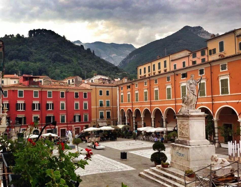 Piazza Alberica in Carrara, Northern Toscana, Italy