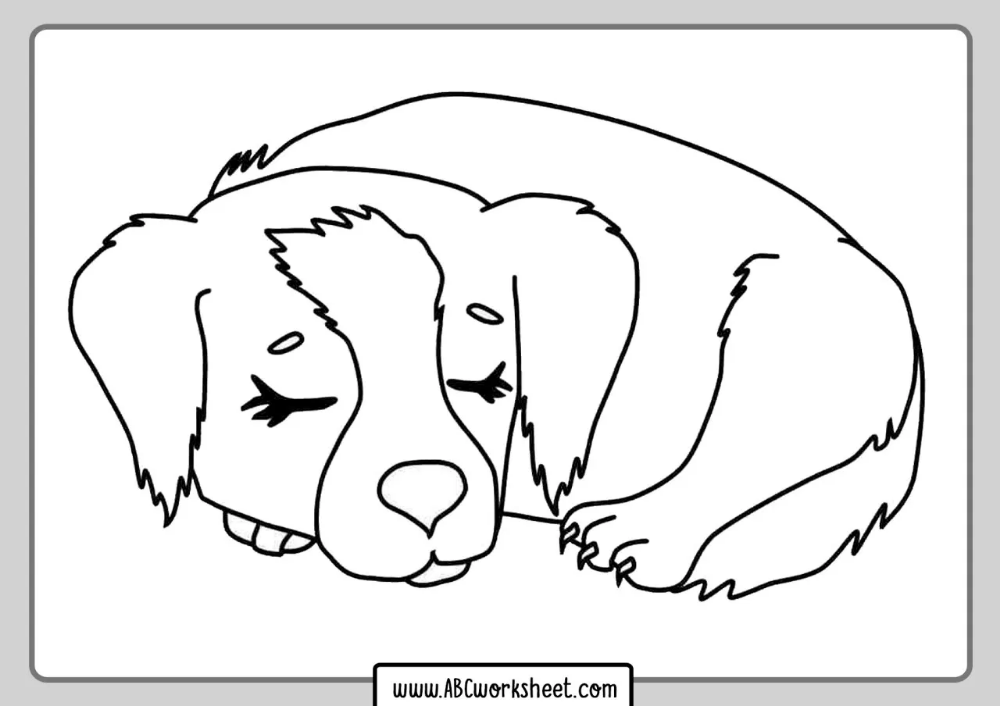 Sleeping Dog Coloring Page Dog Coloring Page Animal Coloring Pages Sleeping Dogs