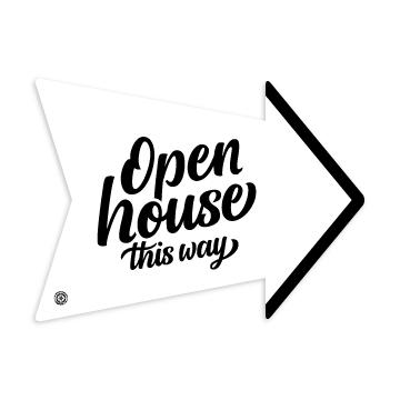 Open House This Way Script No 2 Arrow Open House Custom Yard Signs Script