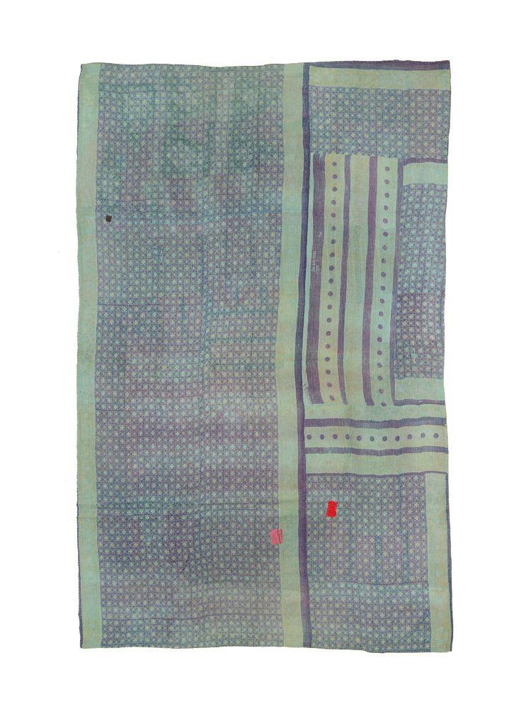 Vintage Kantha Quilt SUBTLE SPOTS | Fossik