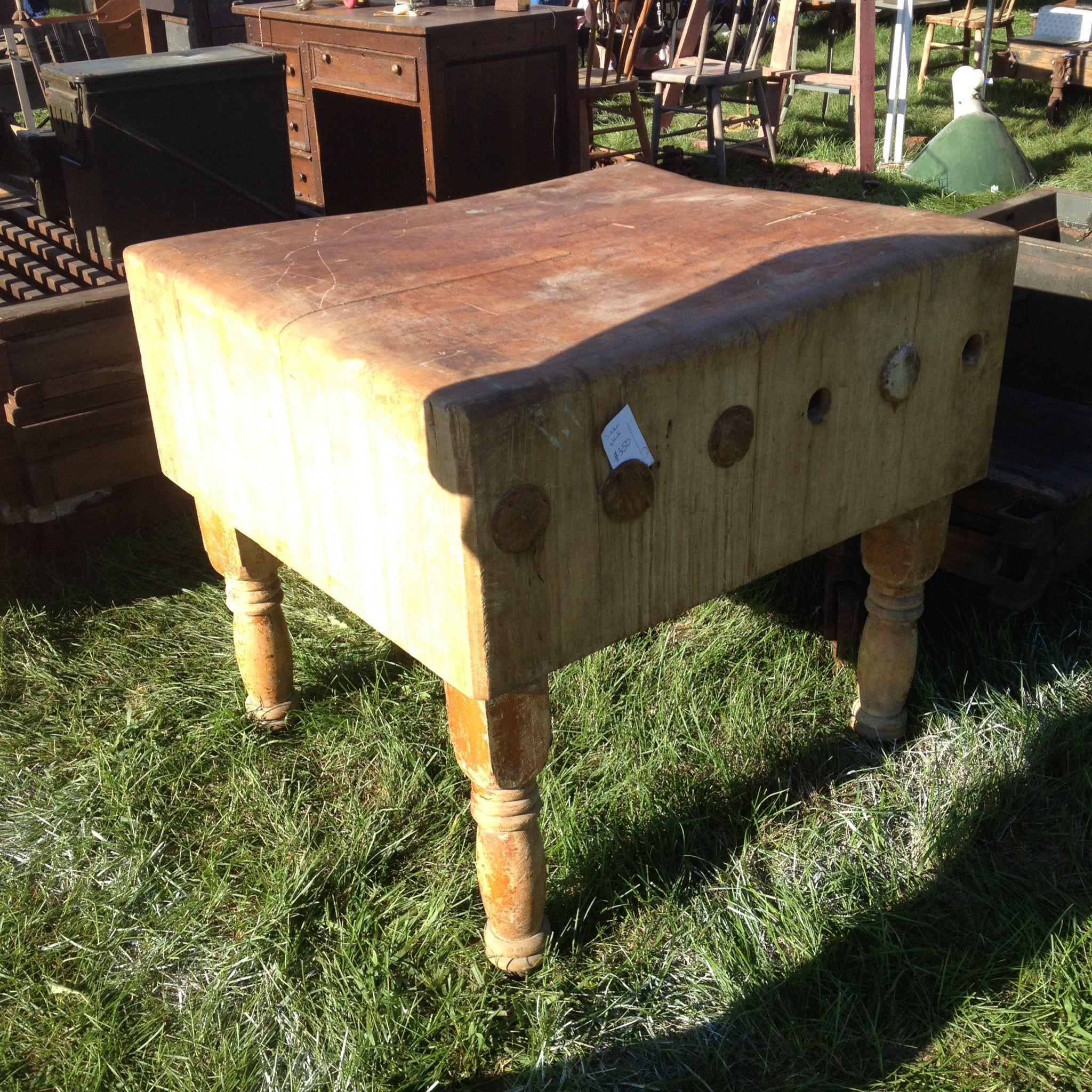 Antique Butcher block Butcher Block Tables Pinterest
