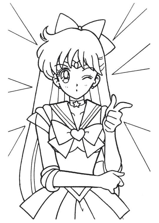 Sailor Moon Series Coloring Pages Sailor Venus Sailor Moon