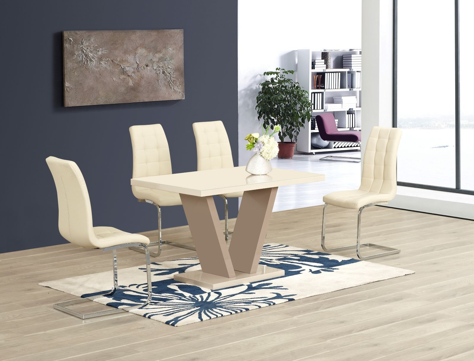 High Gloss Dining Room Furniture Modern