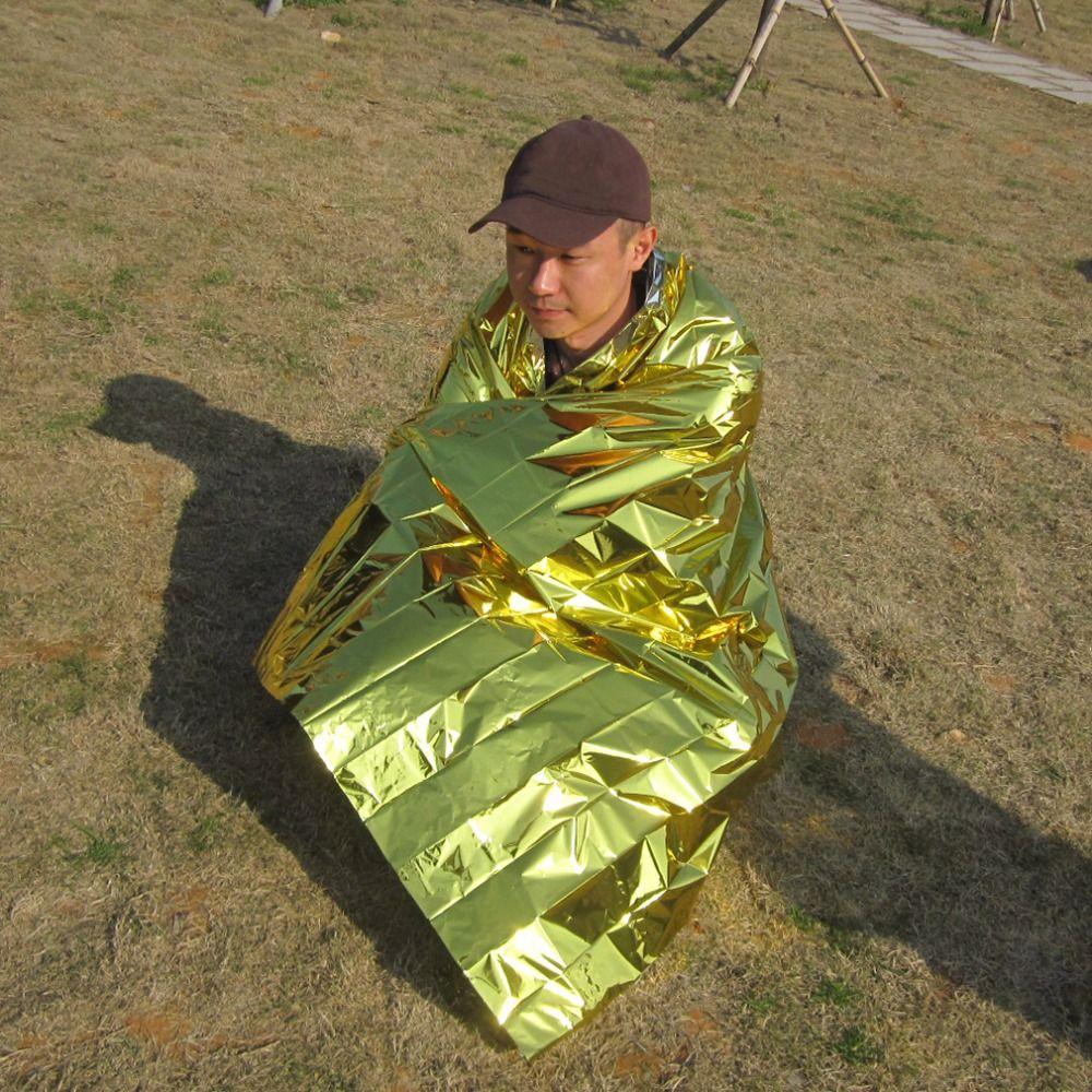 Nuovo 2.1*1.6 m 50g emergente coperta tent camp hike viaggi outdoor survive rescue first aid impermeabile argento strumento di caccia termica
