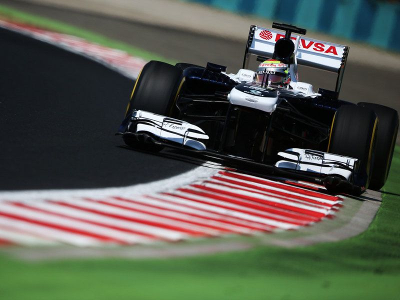 Maldonado in the Williams during practice in Hungary