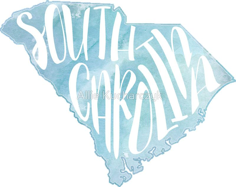 South carolina inspired stickers by allison kay one off die cut stickers