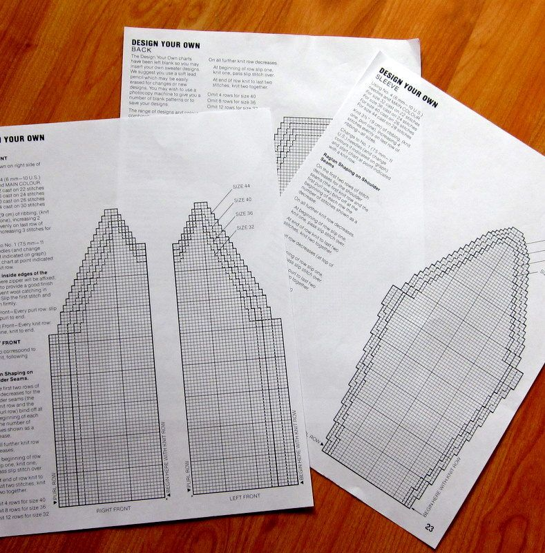 Design your own COWICHAN Sweater knitting TEMPLATES and ...