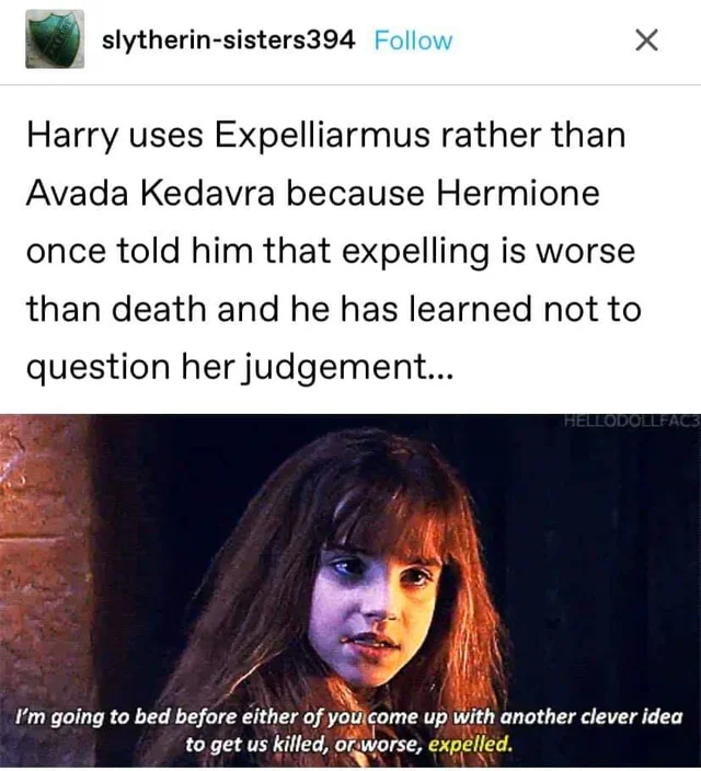 1 The Secret Behind Harry Choosing Expelliarmus As His Go To Spell Harrypotter Harry Potter Comics Harry Harry Potter Jokes