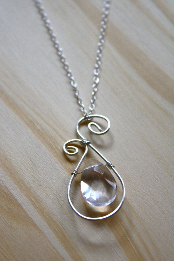 Sterling Silver Wire Wrapping Necklace | jewelry making, beads and ...