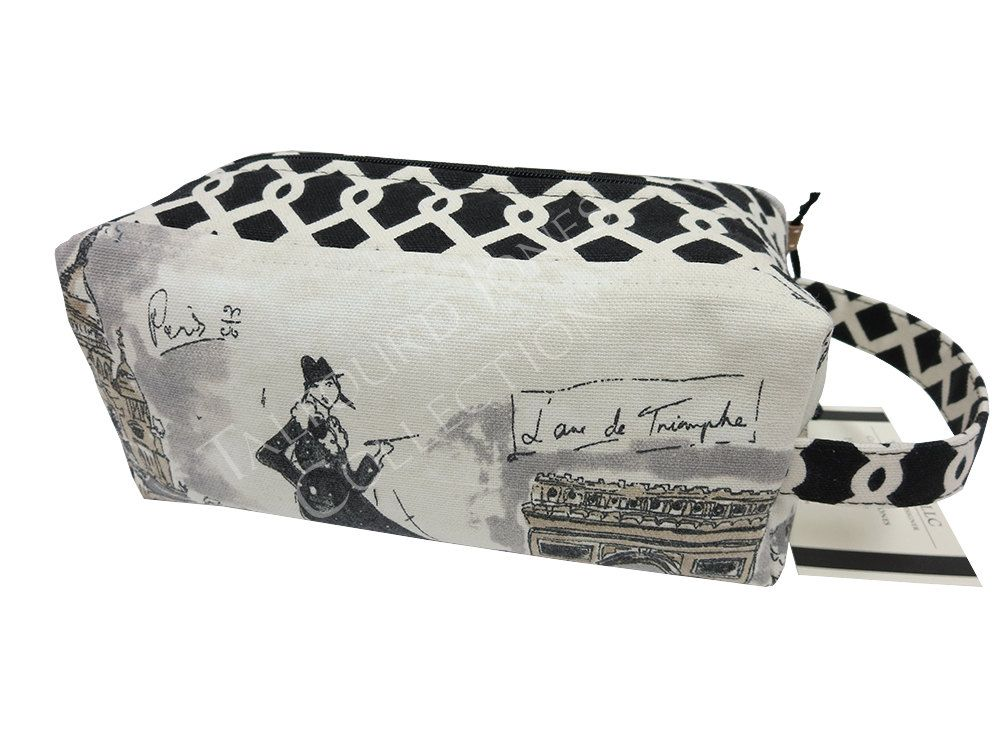 1bdc55e0f0 Paris Scenes Toiletry Box Pouch - Makeup or Cosmetic Storage - Laminate  Toilet Bag - Knitting Project Bag - Waverly Fabrics Tres Chic by  TalfourdJones on ...