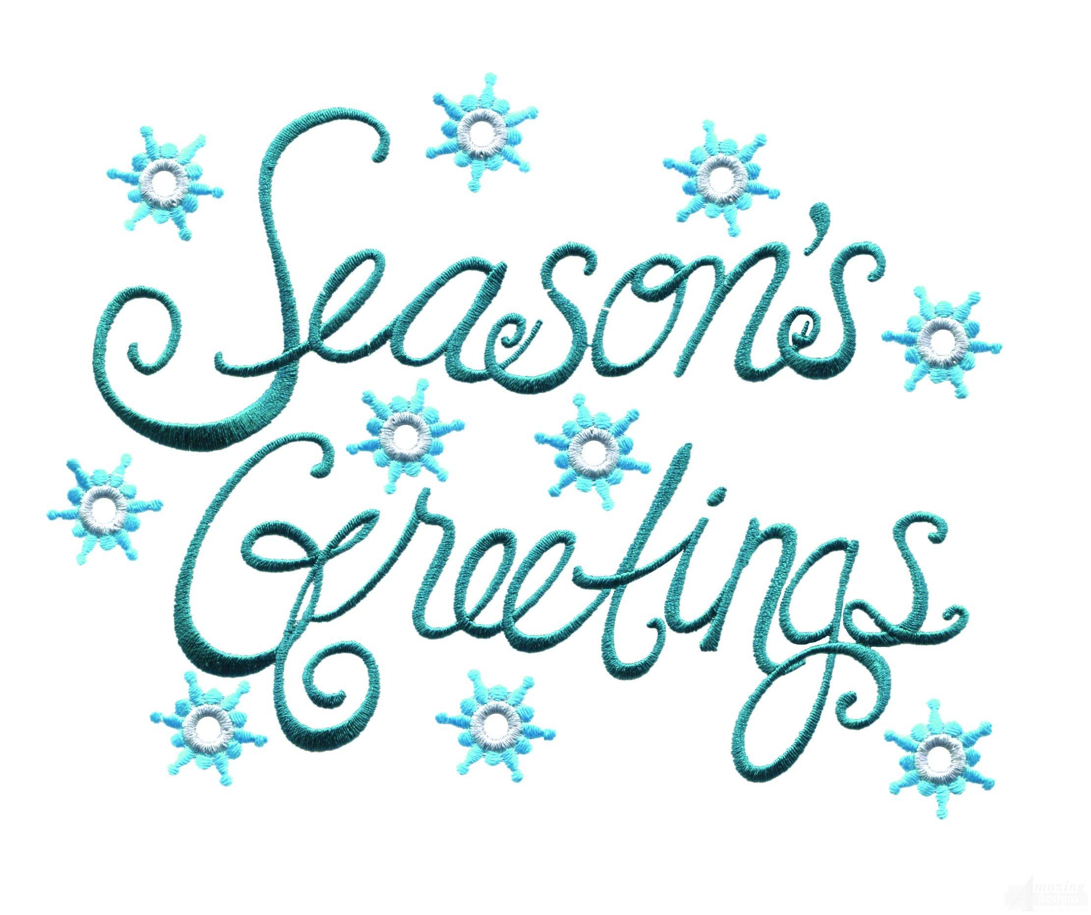 season greetings clip art bright seasons greetings embroidery rh pinterest com free seasons greetings clipart images seasons greetings clipart free